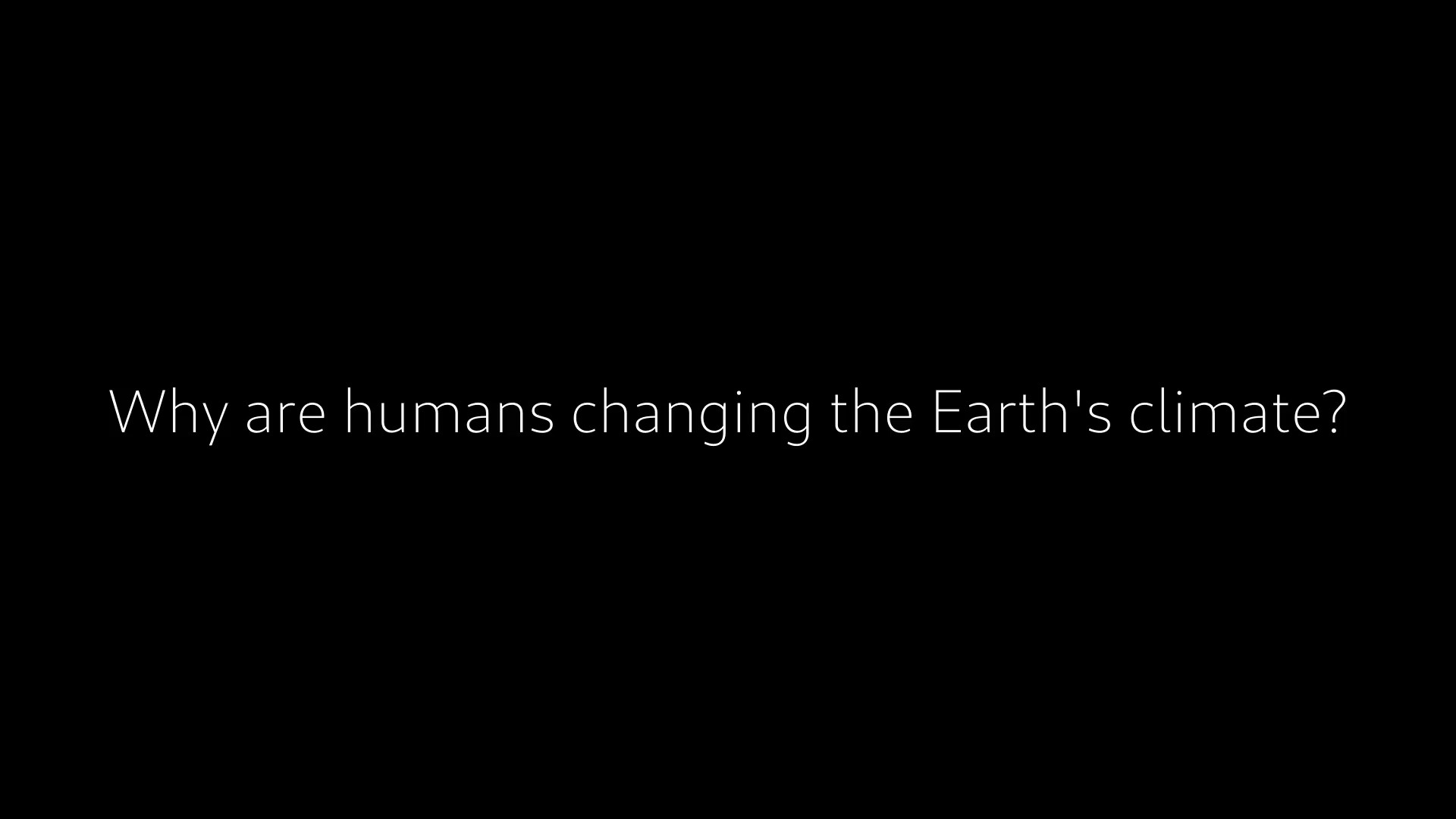 Why are humans changing the Earth's climate?